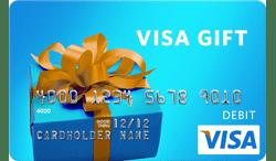 Visa Prepaid Gift Card ATM Logo