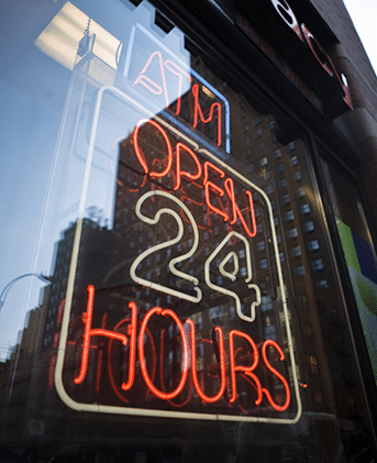 ATM Open 24 Hours